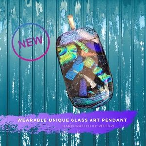 BRAND NEW Handcrafted Wearable Glass Art Pendant